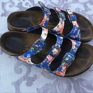 Birkenstock floral sandals. Size 10.